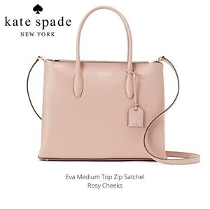 NWT  Kate Spade Eva Medium Zip Top Satchel